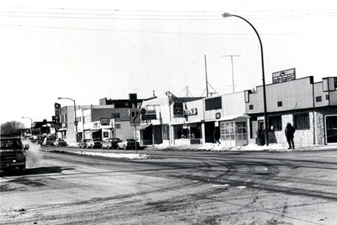 Regent Avenue Looking East in the 1970's - Looking into Regent Avenue Dental Centre history - Winnipeg Dentist - Dental Clinic Winnipeg - Regent Avenue Dental Centre